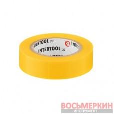 Лента изоляционная 0.15 мм х 17 мм х 10 м желтая IT-0032 Intertool