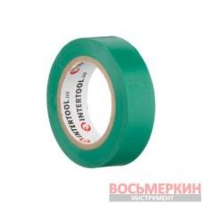 Лента изоляционная 0.15 мм х 17 мм х 10 м зеленая IT-0031 Intertool