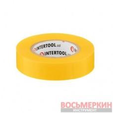 Лента изоляционная 0.15 мм х 17 мм х 15 м желтая IT-0042 Intertool