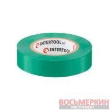 Лента изоляционная 0.15 мм х 17 мм х 15 м зеленая IT-0041 Intertool