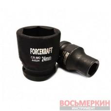 Головка ударная 17 мм 6 гранная 1/2 FK-44517 ForceKraft