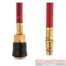Шланг гибридный профессиональный 20 атм 6х11 мм 10 м с латунными быстроразъемными соединениями STORM PT-1761 Intertool