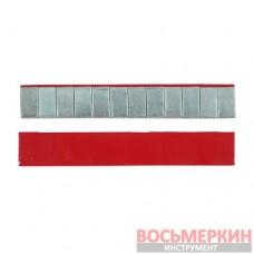 Груз клеящийся низкий красная лента 12х5г 60 гр металлический с лайнером 100 шт/уп