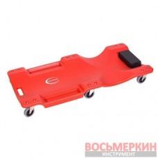 Лежак для автослесаря пластиковый на 6-ти колесах 1050х490х95 мм RF-9U0311P36 Rock Force
