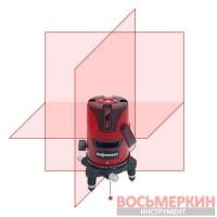 Лазерный уровень 5 линий 1H/4V красный луч LL605R Protester