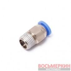 Фитинг для пластиковых трубок 6 мм с наружной резьбой 1/4 SPC06-02 Partner