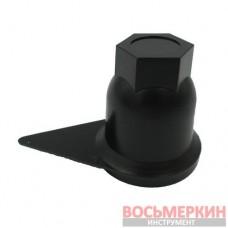 Колпачок защитный гайки колесной на 32 мм для грузовых автомобилей черный