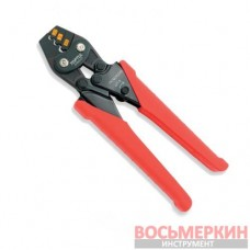 Клещи для обжимки клемм с трещоткой 1,25-2-3,5 кв.мм L170мм DKBB2307 TOPTUL