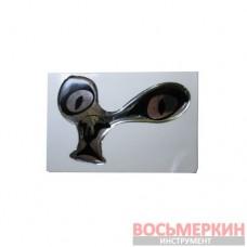 Эмблема силиконовая Глаза котика