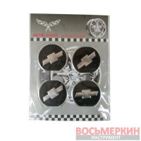 Эмблемы металлические на колпаки Chevrolet цена за 4 шт