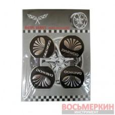 Эмблемы металлические на колпаки Daewoo цена за 4 шт