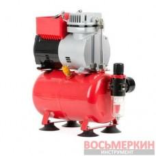 Компрессор безмасляный 4 л 0,3кВт 220 В 3,2атм 50л/мин PT-0001 Intertool