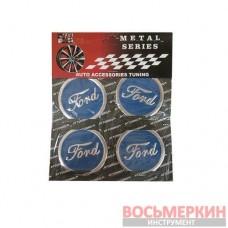 Эмблемы металлические на колпаки Ford цена за 4 шт