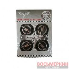 Эмблемы металлические на колпаки Opel цена за 4 шт