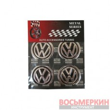 Эмблемы металлические на колпаки VW цена за 4 шт