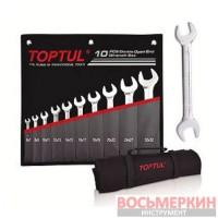 Набор рожковых ключей 10 единиц от 6 мм до 32 мм GPCJ1001 Toptul