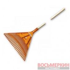Грабли веерные 22 зубца черенок деревянный KT-CX22B Bradas