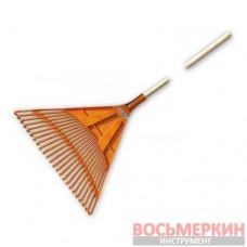 Грабли веерные 24 зубца черенок деревянный KT-CX24B Bradas