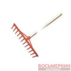 Грабли ПВХ 12 зубцов с деревянным черенком KT-CX12U Bradas