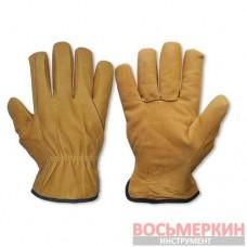 Перчатки защитные Cork с козей шкуры блистер размер 10.5 RWC105 Bradas