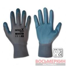 Перчатки защитные Nitrox Gray нитрил размер 8 RWNGY8 Bradas