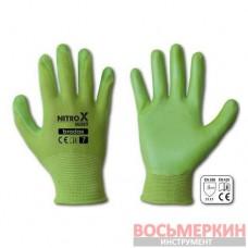 Перчатки защитные Nitrox Mint нитрил размер 6 RWNM6 Bradas