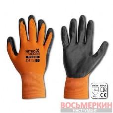 Перчатки защитные Nitrox Orange нитрил размер 8 RWNO8 Bradas