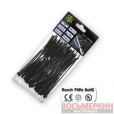 Стяжки кабельные пластиковые UV Black 2,5 x 100 мм (100шт) TS1125100B Bradas