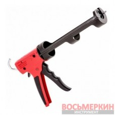 Пистолет для выдавливания силикона усиленный пластик 2 режима HT-0028 Intertool