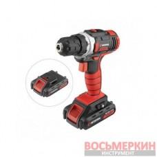 Шуруповерт аккумуляторный 18В 0-900об/мин c рег. крутящего момента 2 аккум 1300мАч WT-0314 Intertool