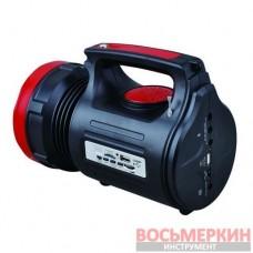 Фонарь аккумуляторный 1LED 5W и 22 SMD LB-0104 Intertool