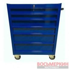 Профессиональная тележка ProfiBOX 6 полок синего цвета MTB6c Profibox