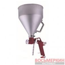Распылитель пневматический для нанесения штукатурки металлический бачок FR-300 Auarita