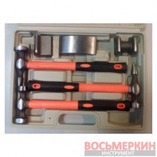 Набор молотков для рихтовки 6 предметов 1-F1007 Ampro
