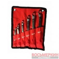 Набор ключей накидных 6 предметов от 6 до 17 мм NNK006 6-17 Ampro