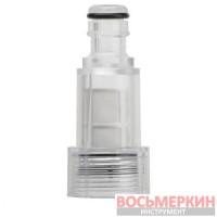 Фильтр сетчатый грубой очистки с коннектором 1/2 к мойкам высокого давления DT-1576 Intertool