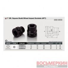 Головка ударная 1 внутренний квадрат для футорок колес 19 мм KABM3219 TOPTUL