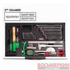 Тележка с инструментом 7 секций 211 ед. GCAJ0066 TOPTUL