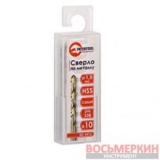 Сверло по металлу DIN338 1.5мм HSS 5% Cobalt SD-5415 Intertool
