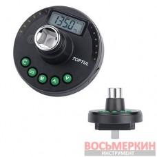 Цифровой динамометрический адаптер, шкала доворота 1/2 10-200Нм DTA-200A Toptul