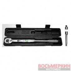 Динамометрический ключ 1/2 перех. 1/2*3/8, удл. 125мм 1/2 28-210NM XT-9007 Intertool