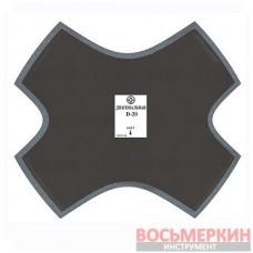 Пластырь диагональный D 20 255 мм 4 слоя корда Россвик Rossvik