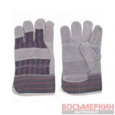 Перчатка замшевая утепленная 26,5 см 60 пар/ящик SP-0154W Intertool цена за ящик
