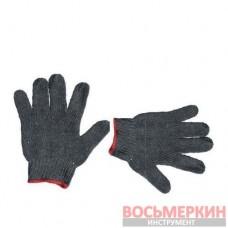 Перчатка трикотаж хлопчатобумажная с PVC на ладони серая SP-0102 Intertool