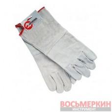 Перчатка замшевая 35 см 60 пар/ящ SP-0009W Intertool цена за ящик