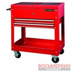 Тумба инструментальная 2 ящика красная 87A42-2BA KingTony