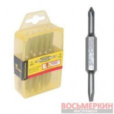 Комплект отверточных насадок PH1/SL5 мм 4 в 1 (10 шт./упак.) VT-0061 Intertool