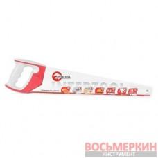 Ножовка по дереву 500 мм с каленым зубом тройная заточка 11 зуб х 1 HT-3163 Intertool