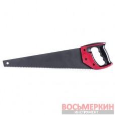 Ножовка по дереву 450 мм с тефлоновым покрытием каленый зуб тройная заточка HT-3108 Intertool