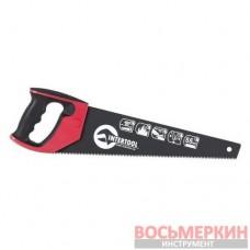 Ножовка по дереву 400 мм с тефлоновым покрытием каленый зуб тройная заточка HT-3107 Intertool